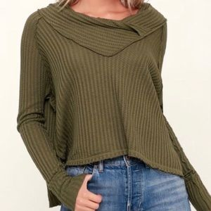 Free People Olive Green Wildcat Thermal S